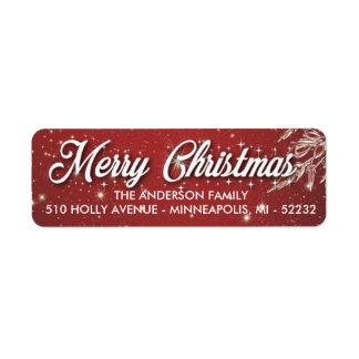 Frohe Weihnacht-Rücksendeadressen-Aufkleber
