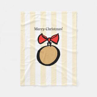 Frohe Weihnacht-runde Verzierung Fleecedecke