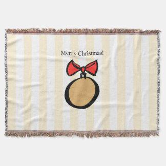 Frohe Weihnacht-runde Verzierungs-Wurfs-Decke Decke
