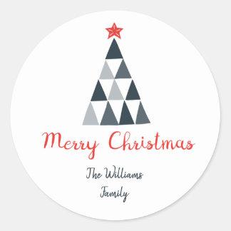Frohe Weihnacht-runder Aufkleber