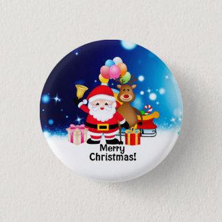 Frohe Weihnacht-runder Knopf Runder Button 2,5 Cm