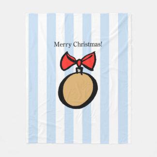 Frohe Weihnacht-rundes Verzierungs-MED. Fleecedecke