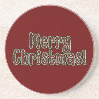 Frohe Weihnacht-Sammlungs-Mattendgetränk Untersetzer