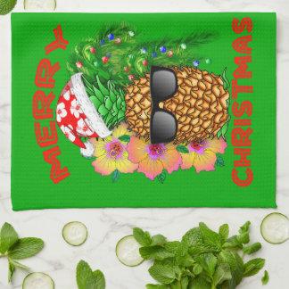 Frohe Weihnacht-Sankt-Ananas Küchentuch