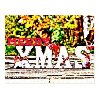 Frohe Weihnacht-Sankt-Puppe Postkarte