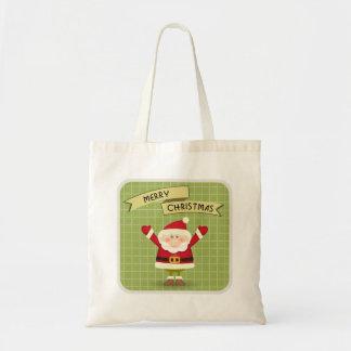 Frohe Weihnacht-Sankt-Tasche Tragetasche