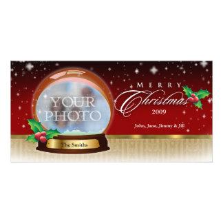 Frohe Weihnacht-Schnee-Kugel kundengerechte 6 Individuelle Foto Karte