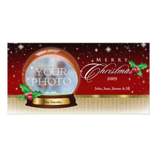 Frohe Weihnacht-Schnee-Kugel kundengerechte 6 Photokarten