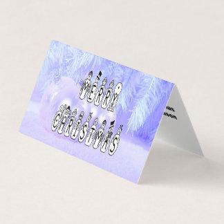 Frohe Weihnacht-Schnee-Leute-Schriftart, blauer Karte