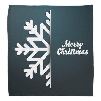 Frohe Weihnacht-Schneeflocke-Blau Kopftuch