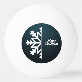 Frohe Weihnacht-Schneeflocke-Blau Ping-Pong Ball