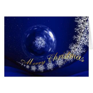 Frohe Weihnacht-Schneeflocke-Galaxie Karte