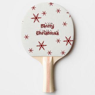 Frohe Weihnacht-Schneeflocke Tischtennis Schläger