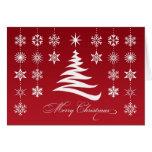 Frohe Weihnacht-Schneeflocken gefaltete Karte