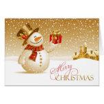 Frohe Weihnacht-Schneemann gefaltete Karte