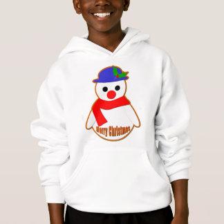 Frohe Weihnacht-Schneemann Hoodie