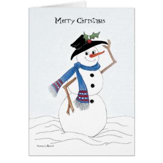 Frohe Weihnacht-Schneemann Karte