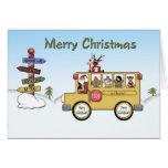 Frohe Weihnacht-Schulbus Grußkarte