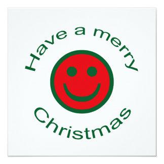Frohe Weihnacht-smiley Karte