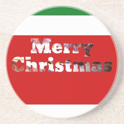 Frohe Weihnacht-Speck-Druck Bierdeckel