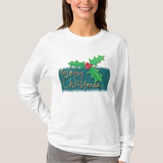 Frohe Weihnacht-Stechpalme T-Shirt