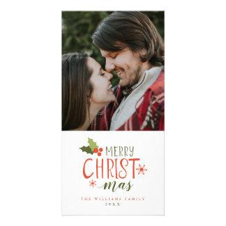 Frohe Weihnacht-Stechpalmen-Beere Karte