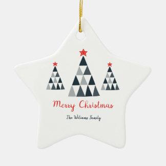 Frohe Weihnacht-Stern-Verzierung Keramik Ornament