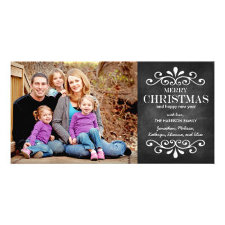 Frohe Weihnacht-Tafel-Feiertags-Foto-Karte Personalisierte Foto Karte