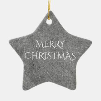 Frohe Weihnacht-Tafel-Typografie Schwarz-weiß Keramik Stern-Ornament