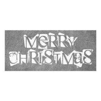 Frohe Weihnacht-Tafel-Typografie Schwarz-weiß Werbekarte