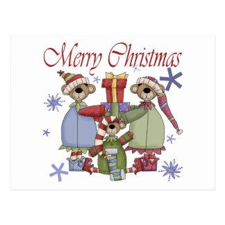 Frohe Weihnacht-Teddybären Postkarte