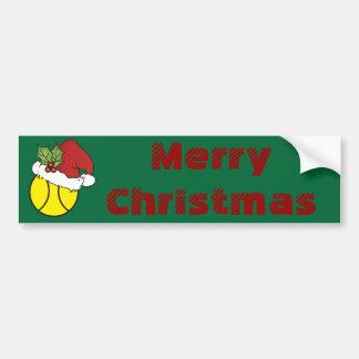 Frohe Weihnacht-Tennis Autoaufkleber