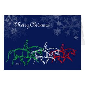 Frohe Weihnacht-Trottenkarte x3 Karte