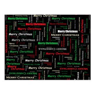 Frohe Weihnacht-Typografie-Muster Postkarte