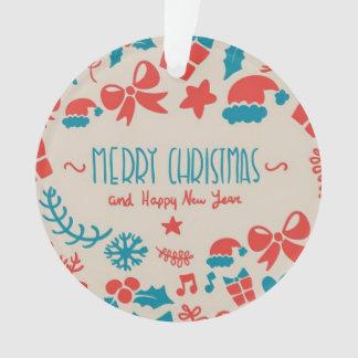 Frohe Weihnacht-u. guten Rutsch ins Neue Ornament