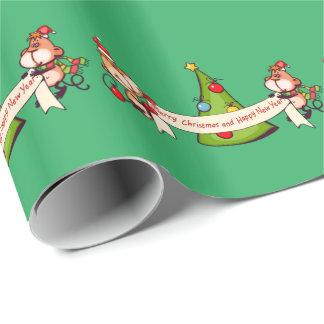 Frohe Weihnacht-und guten Rutsch ins Neue Geschenkpapier