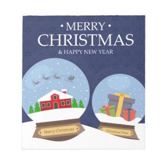 Frohe Weihnacht-und guten Rutsch ins Neue Notizblock