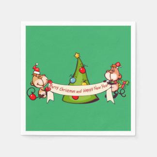 Frohe Weihnacht-und guten Rutsch ins Neue Papierserviette