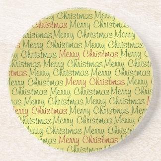 Frohe Weihnacht-Untersetzer Sandstein Untersetzer