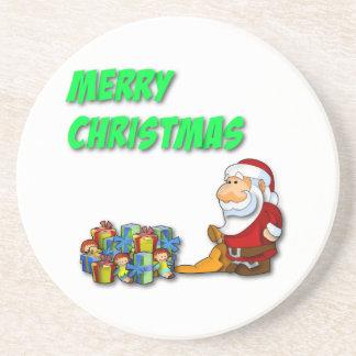 Frohe Weihnacht-Untersetzer Sankt