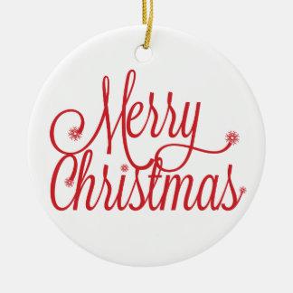 Frohe Weihnacht-Verzierung Keramik Ornament