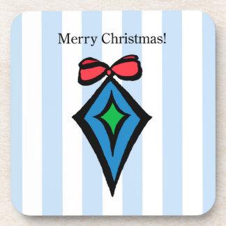Frohe Weihnacht-Verzierungs-harter Getränkeuntersetzer