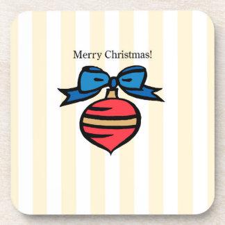 Frohe Weihnacht-Verzierungs-harter quadratischer Getränkeuntersetzer
