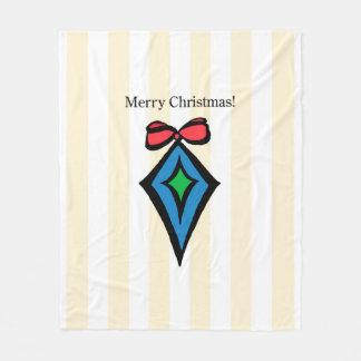 Frohe Weihnacht-Verzierungs-MED. Fleece