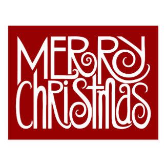 Frohe Weihnacht-Weiß-Postkarte Postkarte