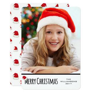 Frohe Weihnacht-weiße vertikale wunderliche Karte