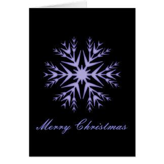 """""""Frohe Weihnacht-"""" - Winter-blaue Schneeflocke [b] Karte"""