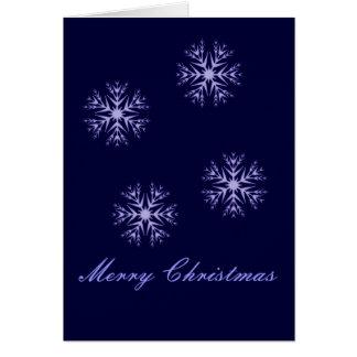 """""""Frohe Weihnacht-"""" - Winter-blaue Schneeflocken Karte"""