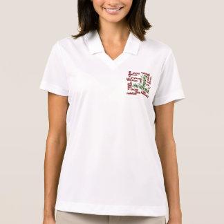 Frohe Weihnacht-Wort-Wolke Polo Shirt