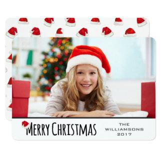 Frohe Weihnacht-wunderliche Weihnachtsmannmütze Karte